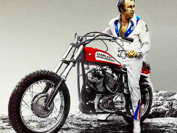 Painting - Evel Knievel Painting Full Color Large by Tony Rubino