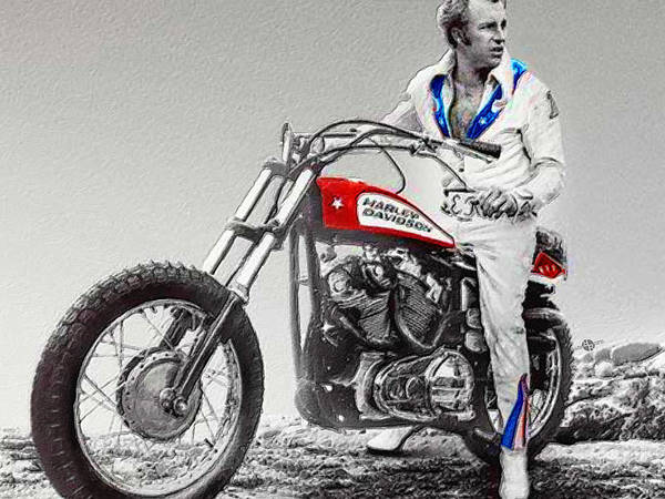 Painting - Evel Knievel Painting Spot Color Small by Tony Rubino