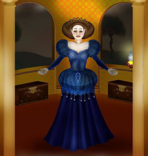 Romeo And Juliet Digital Art - Evelyna Waiting by Pauline Moore