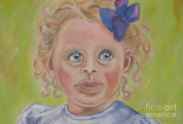 Painting - Evelynn. Close Up Image Of Painting by Oksana Semenchenko