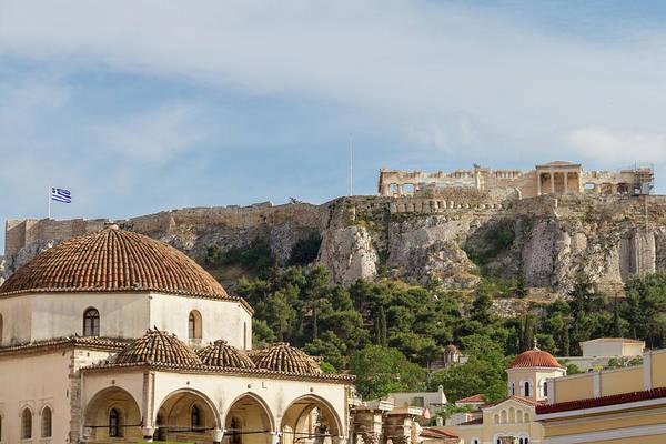 Wall Art - Photograph - Even Nmore Coexisting History- Acropolis Monument View From Monastiraki Square by Iordanis Pallikaras