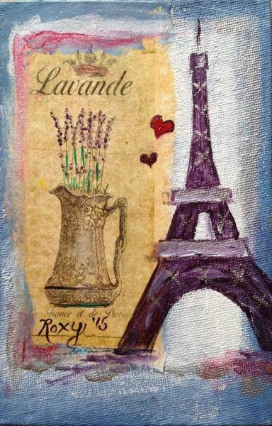 Paris Painting - Even The Eiffel Tower Loves Lavender by Roxy Rich