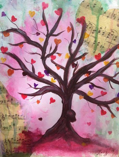 Tree Painting - Even Trees Love Music by Roxy Rich