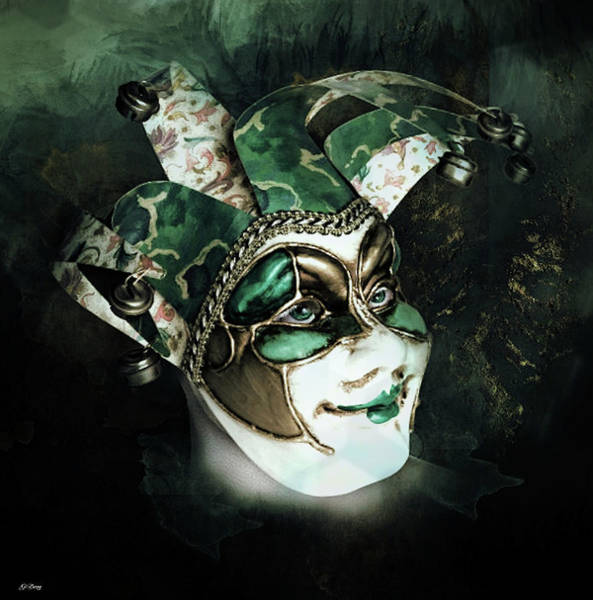 Joyous Mixed Media - Even With Her Mask, Her Eyes Give Her Away by G Berry