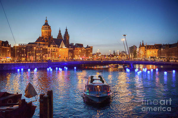 Photograph - evening Amsterdam  by Ariadna De Raadt
