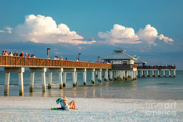 Photograph - Evening At Ft. Myers Pier by Brian Jannsen