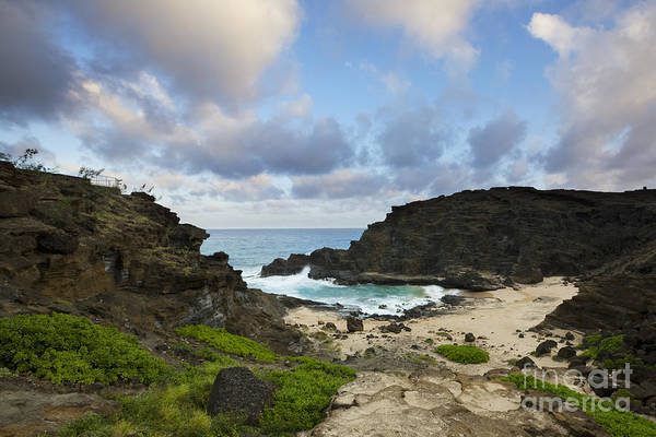 Photograph - Evening At Halona Cove - Oahu by Charmian Vistaunet