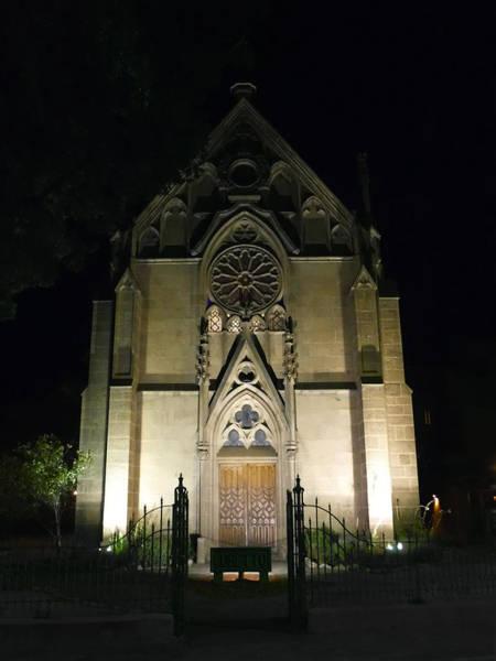 Loretto Chapel Photograph - Evening At Loretto Chapel Santa Fe by Kurt Van Wagner