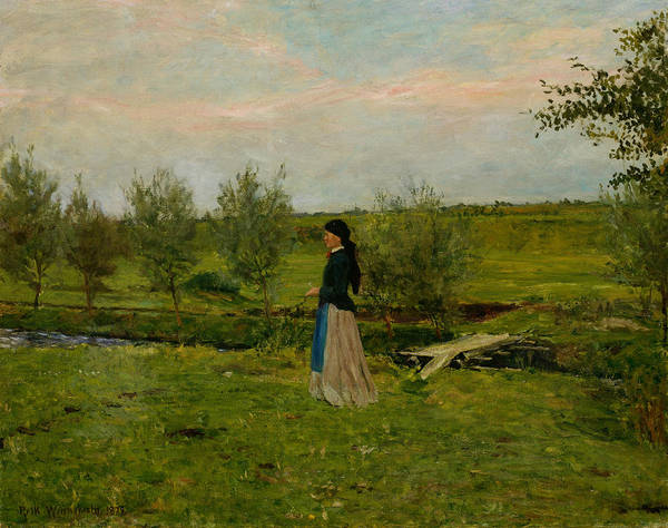 Painting - Evening At Pipping by Erik Werenskiold