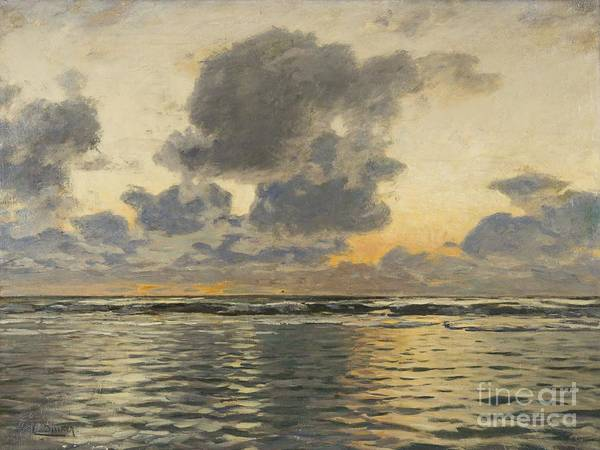 Baltic Sea Painting - Evening At The Baltic Sea by Celestial Images