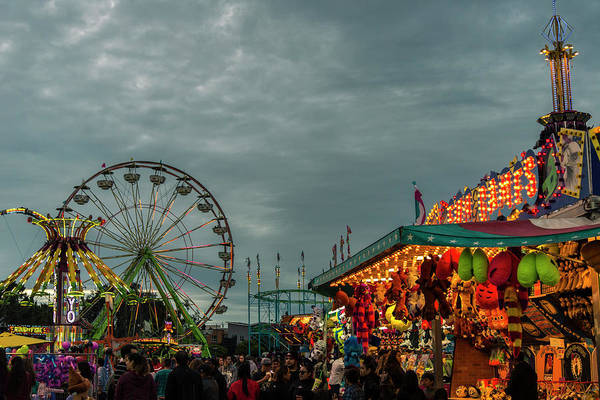 Photograph - Evening At The Fair by Alex Lapidus