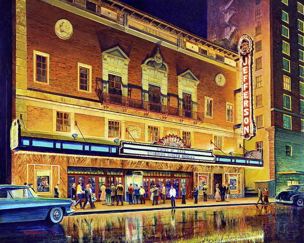 Painting - Evening At The Jefferson by Randy Welborn