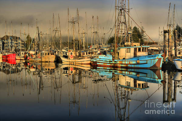 Port Of Vancouver Wall Art - Photograph - Evening At The Ucluelet Harbor by Adam Jewell