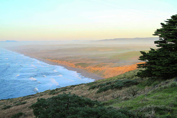 Photograph - Evening Beach View At Point Reyes by Bonnie Follett