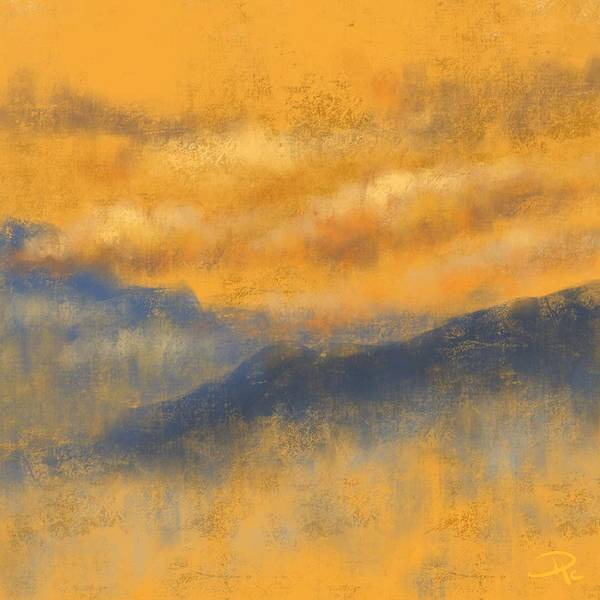 Wall Art - Digital Art - Evening Bliss by David G Paul
