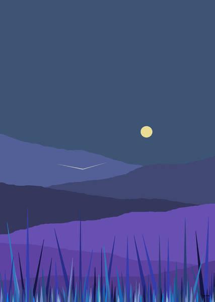 Digital Art - Evening Blue II by Val Arie