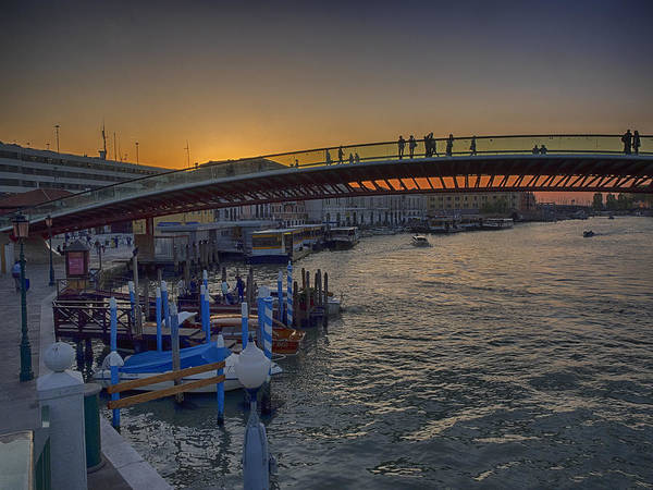 Photograph - Evening By Ponte Della Constituzione by Stephen Barrie