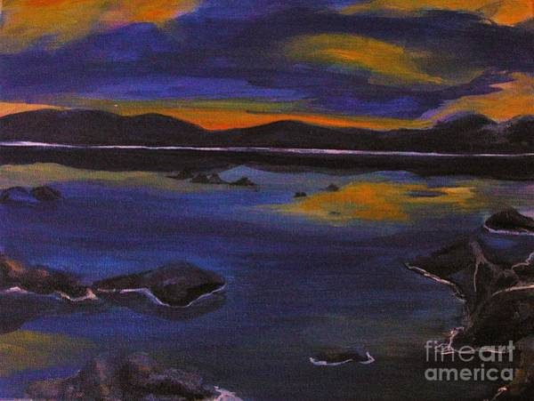 Charisse Painting - Evening By The Lake by Charisse Sotto