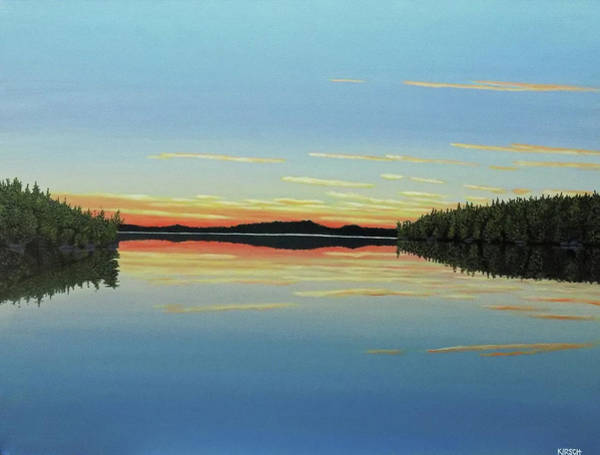 Painting - Evening Calm by Kenneth M Kirsch