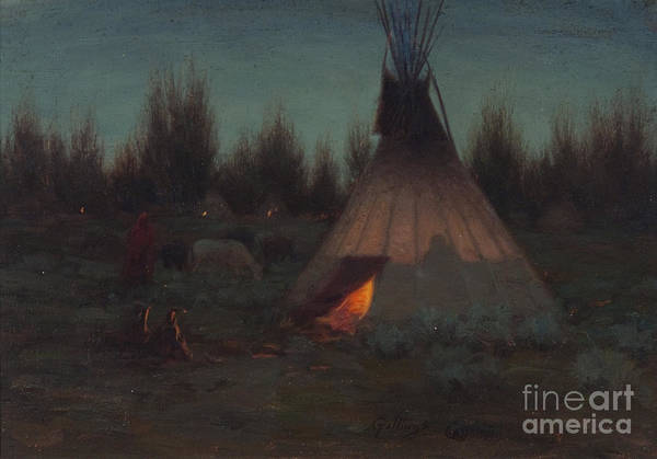 Painting - Evening Camp  by Celestial Images