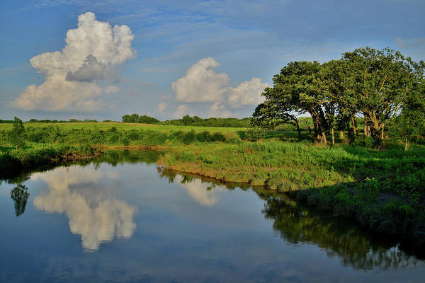 Photograph - Evening Cloud Reflection On Nippersink Creek In Glacial Park by Ray Mathis