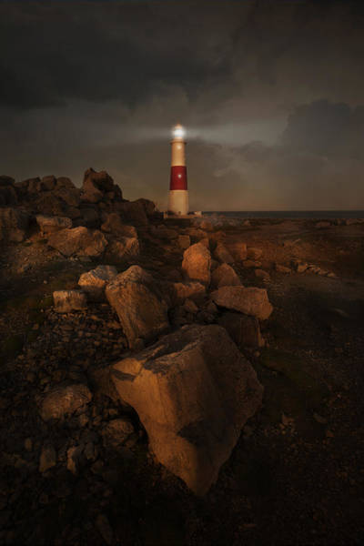 Photograph - Evening Coast With Lighthouse by Jaroslaw Blaminsky
