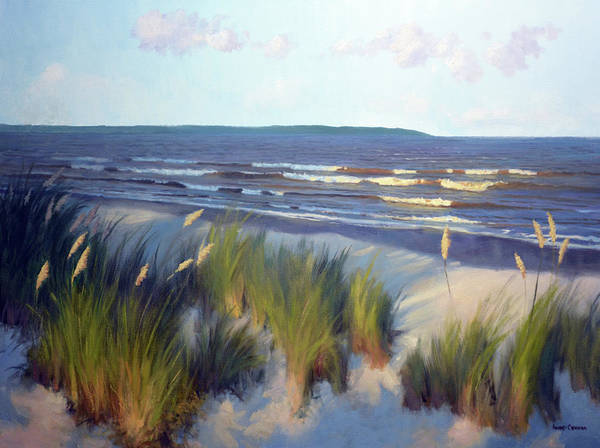 Sea Oats Painting - Evening East Beach by Armand Cabrera
