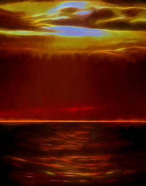 Spectacular Painting - Evening Fire by Dan Sproul