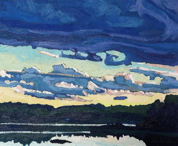 Stratocumulus Painting - Evening Fropa by Phil Chadwick