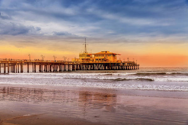 Photograph - Evening Glow At The Pier by Gene Parks