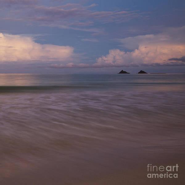 Photograph - Evening Glow Over Mokulua Islands by Charmian Vistaunet