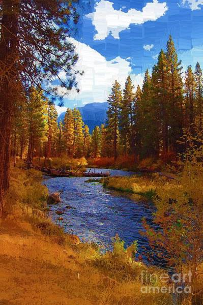 Diane Berry Wall Art - Painting - Evening Hatch On The Metolius River Painting 2 by Diane E Berry