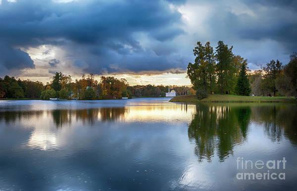 Photograph - Evening In Autumn Park  by Ariadna De Raadt