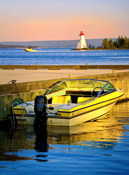 Cabot Trail Photograph - Evening In Baddeck Harbour by Carolyn Derstine