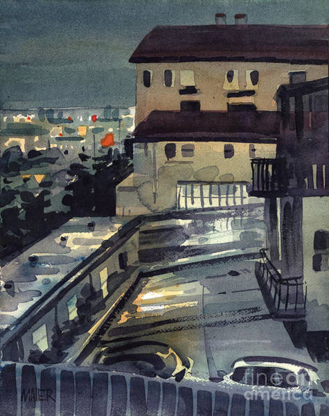 Wall Art - Painting - Evening In Belmont by Donald Maier