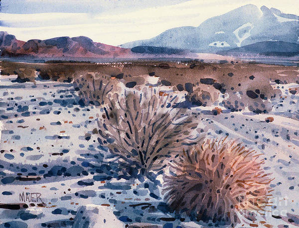 Sage Painting - Evening In Death Valley by Donald Maier