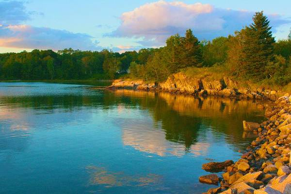 Photograph - Evening In Deer Isle Maine by Polly Castor