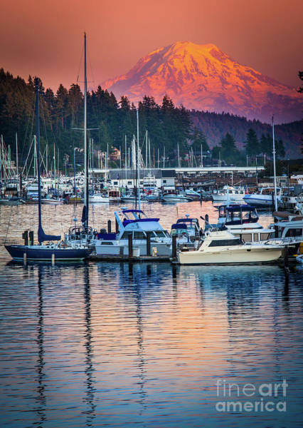 Wall Art - Photograph - Evening In Gig Harbor by Inge Johnsson