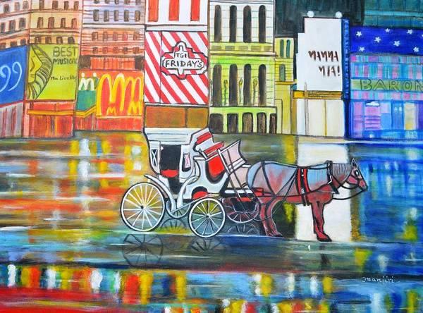 Mama Mia Painting - Evening In New York by Manjiri Kanvinde
