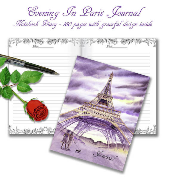 Mixed Media - Evening In Paris Journal by Irina Sztukowski