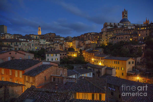 Photograph - Evening In Siena by Spencer Baugh