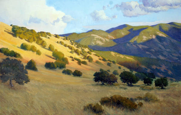 California Hills Painting - Evening In Summer by Armand Cabrera