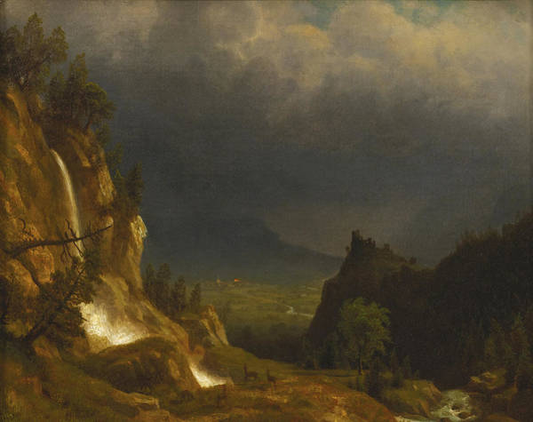 Wall Art - Painting - Evening In The Mountains by Albert Bierstadt