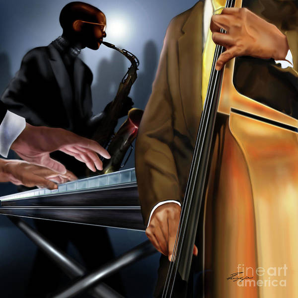 Painting - Evening Jazz Crowd Pleaser by Reggie Duffie
