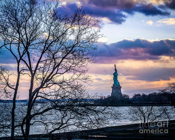 Wall Art - Photograph - Evening Liberty by Perry Webster
