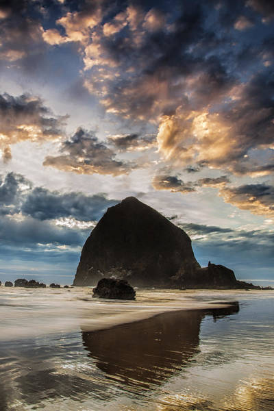 Wall Art - Photograph - Evening Light At Cannon Beach by Andrew Soundarajan