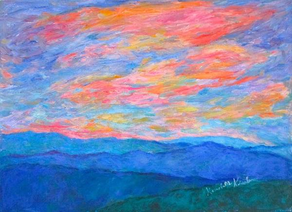 Painting - Evening Light From Sharp Top by Kendall Kessler