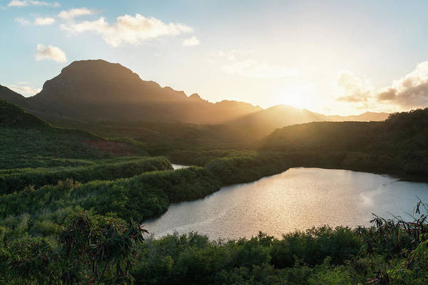 Photograph - Evening Light In Kauai by James Udall