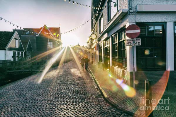Photograph - evening light in Volendam  by Ariadna De Raadt