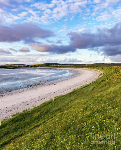 Evening Light On Hougharry Bay On North Uist Art Print